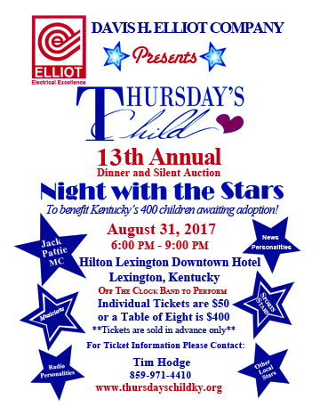 Thursday's Child Flier 2017 Night With the Stars